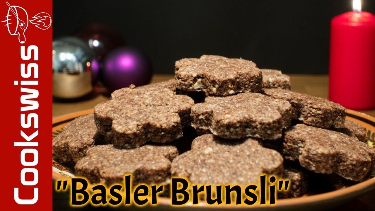 Traditional Basler Brunsli Swiss Christmas Chocolate And Nut Cookie