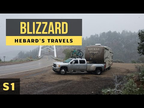 RV Travel Life | Trapped In a Blizzard - Winter Storm Janice