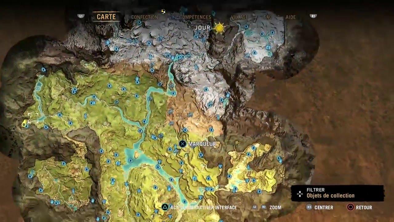 carte far cry primal Far Cry Primal Resource Map