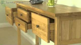 Chaucer Solid Oak Console Table From Oak Furniture Land