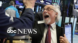 Dow Jones up 1,000 points after historic low Christmas Eve