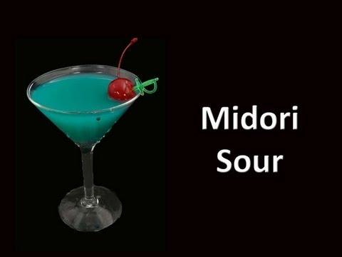 Midori Sour Cocktail Drink Recipe