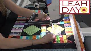 Free Motion Quilting and Ruler Quilting on a Longarm Machine