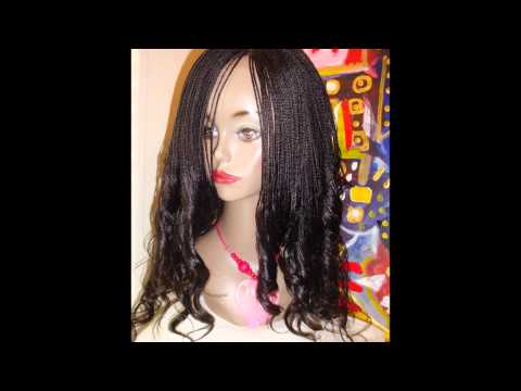 micro braided lace front wig.wmv