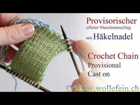 ... mit H?kelnadel - Provisional Crochet Chain Cast on - YouTube