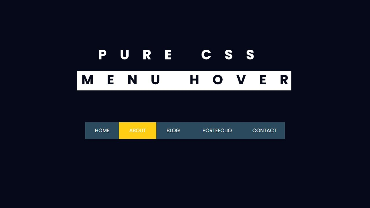 Pure CSS Menu Hover Effect - Very Easy Tutorial