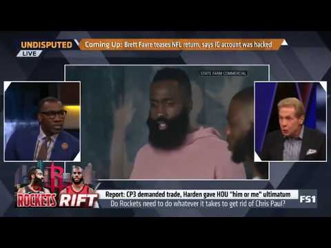 One year ago Skip Bayless for a fake James Harden