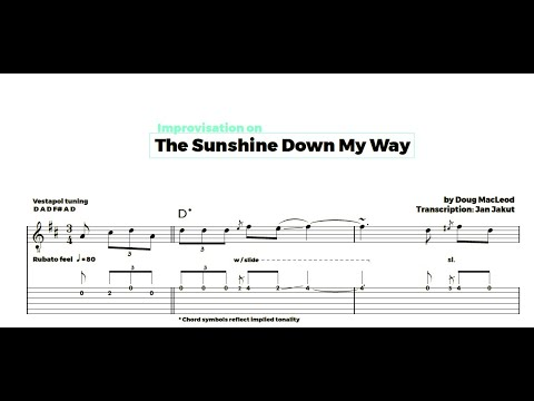 The Sunshine Down My Way - Doug MacLeod