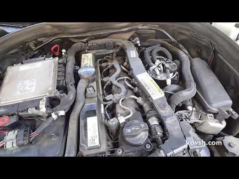 Звук изношенной цепи ГРМ при холодном запуске на Mercedes Benz S Class 2.1d, OM651