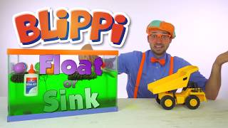 funny cute and  educational Blippi Slime   Sink or Float Science for Kids