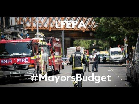 Assembly Budget -  Mayor's Budget 2018-19 -  LFEPA