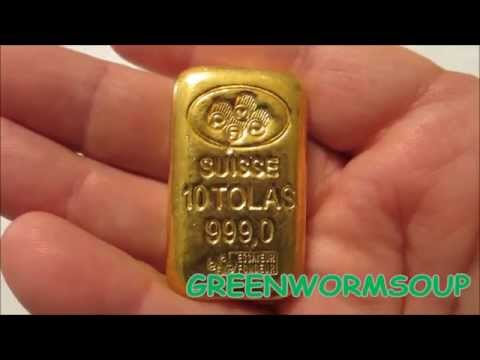 PAMP SUISSE 10 TOLA (3.75 ounce) GOLD BAR - APMEX