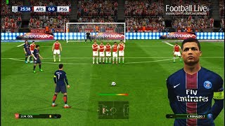 What if Cristiano Ronaldo to PSG | Free Kick Goal | Arsenal vs Paris Saint Germain | PES 2017