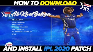 How to Download and Install DREAM11 IPL 2020 for EA Cricket 07
