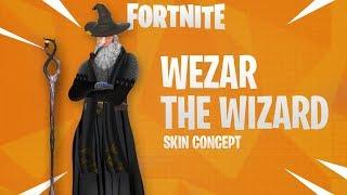 *NEW FORTNITE SKIN* WEZAR THE WIZARD FORTNITE SKIN (Skin Concept Speedart)