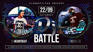 Dj Battle - Animierte Flyer + Instagram Vorlage Photoshop + Facebook-Event