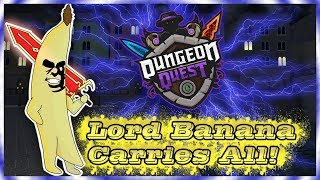 En DIRECT Roblox - Dungeon Quest - Lord Banana Carries All! Lvl 122 ! Profil à rejoindre