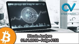 Bitcoin (BTC) Analyse - 01.11.2018 | Folge 152