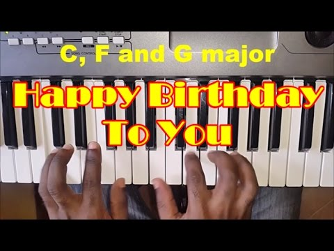 How To Play Happy Birthday To You Easy Piano Chords Piano