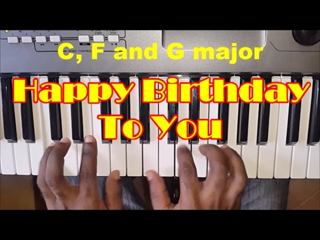How To Play Happy Birthday To You Easy Piano Chords Piano Tutorial Youtube