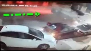 حادث انقلاب سيارة في الاردن عمان منطقة صويلح بسبب التفحيط 2018