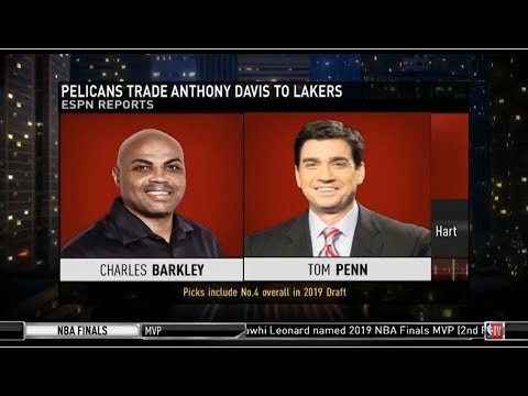 Charles Barkley & Tom Penn react to Pelicans trade Anthony Davis to Lakers | NBA Game Time