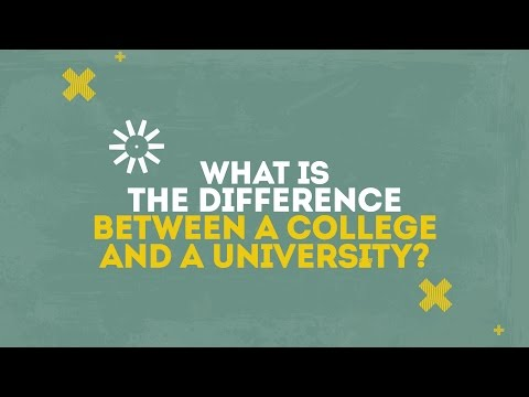 What is the difference between a college and a university?