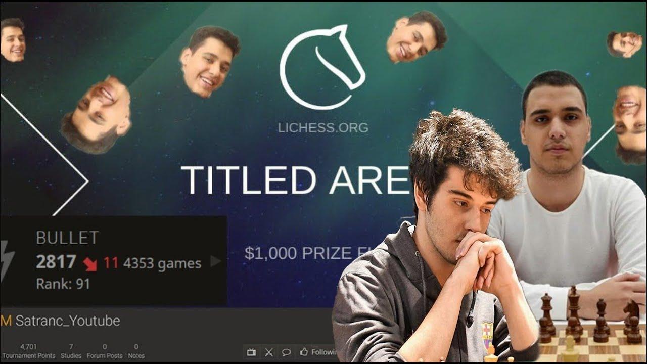 [TR] IM Satranç Dünyaya Karşı ! ( Titled Arena 1+0 ) lichess.org