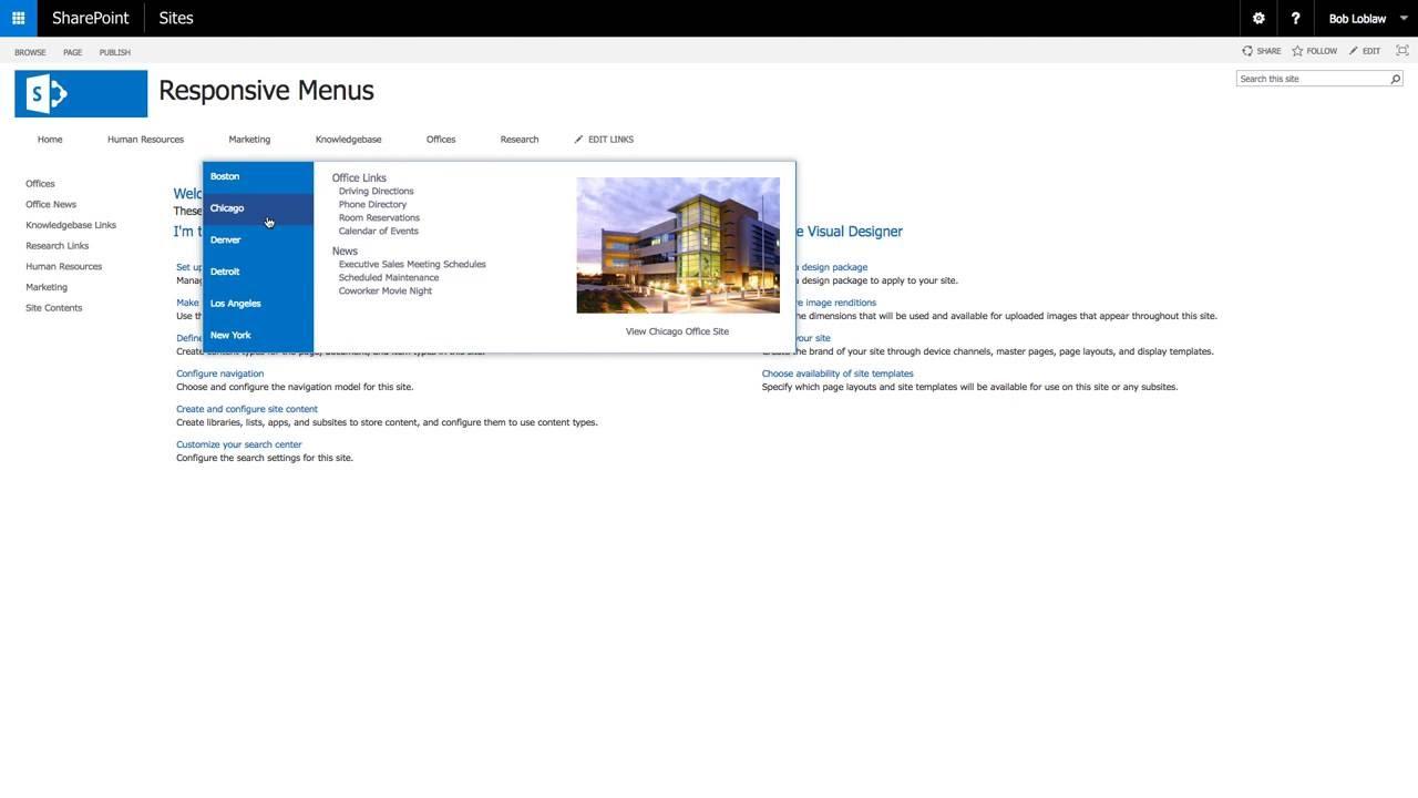 SharePoint Responsive Mega Menus - YouTube