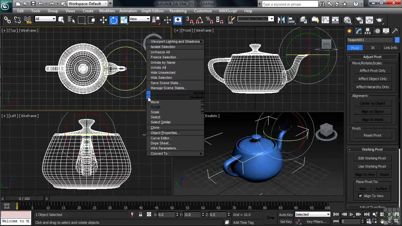 3DS Max 2013 Tutorial | Pivot Points in 3DS Max ...