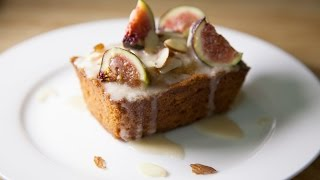 Mini Vanilla Pound Cakes (decorated With Figs & Almonds)