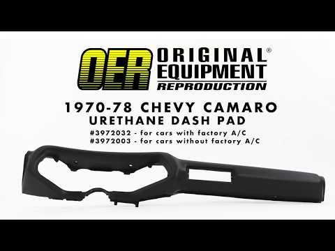 OER 1970-78 Camaro Urethane Dash Pads
