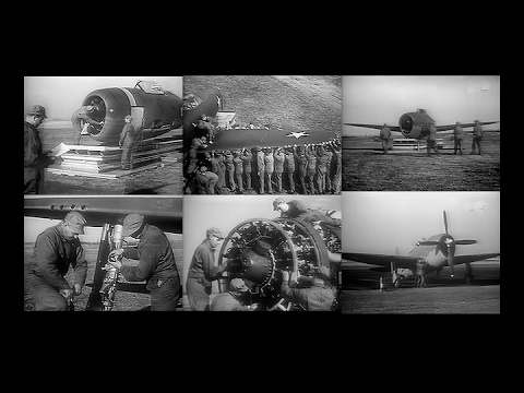 How to assemble a P-47 Thunderbolt Fighter in a field with unpowered hand tools (Restored -1944)