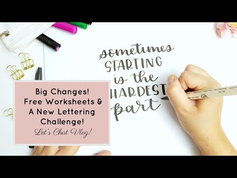 Beginners?! Let's Chat: Big Changes, Free Worksheets & A Practice Challenge for Beginners!