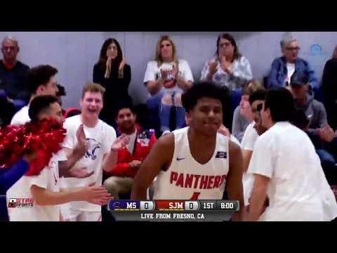 Madera South vs San Joaquin Memorial High School Boys Basketball LIVE 1/9/19