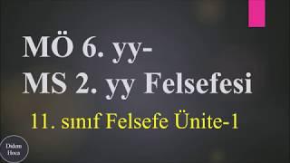 11.Sınıf Felsefe 1. Ünite (MÖ 6.yy- MS 2.yy Felsefesi) 1.Bölüm