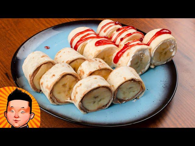 Сладкие роллы с бананом | Banano roll