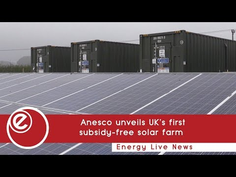 Anesco unveils UK's first subsidy-free solar farm