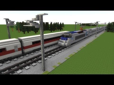 Как сделать в майнкрафте поезд который едет без модов