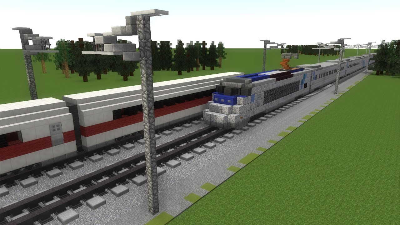 Minecraft High Speed Rail Trains Railfanning Animation