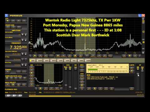 Shortwave DX Wantok Radio Light 7325khz PNG Received In Scot