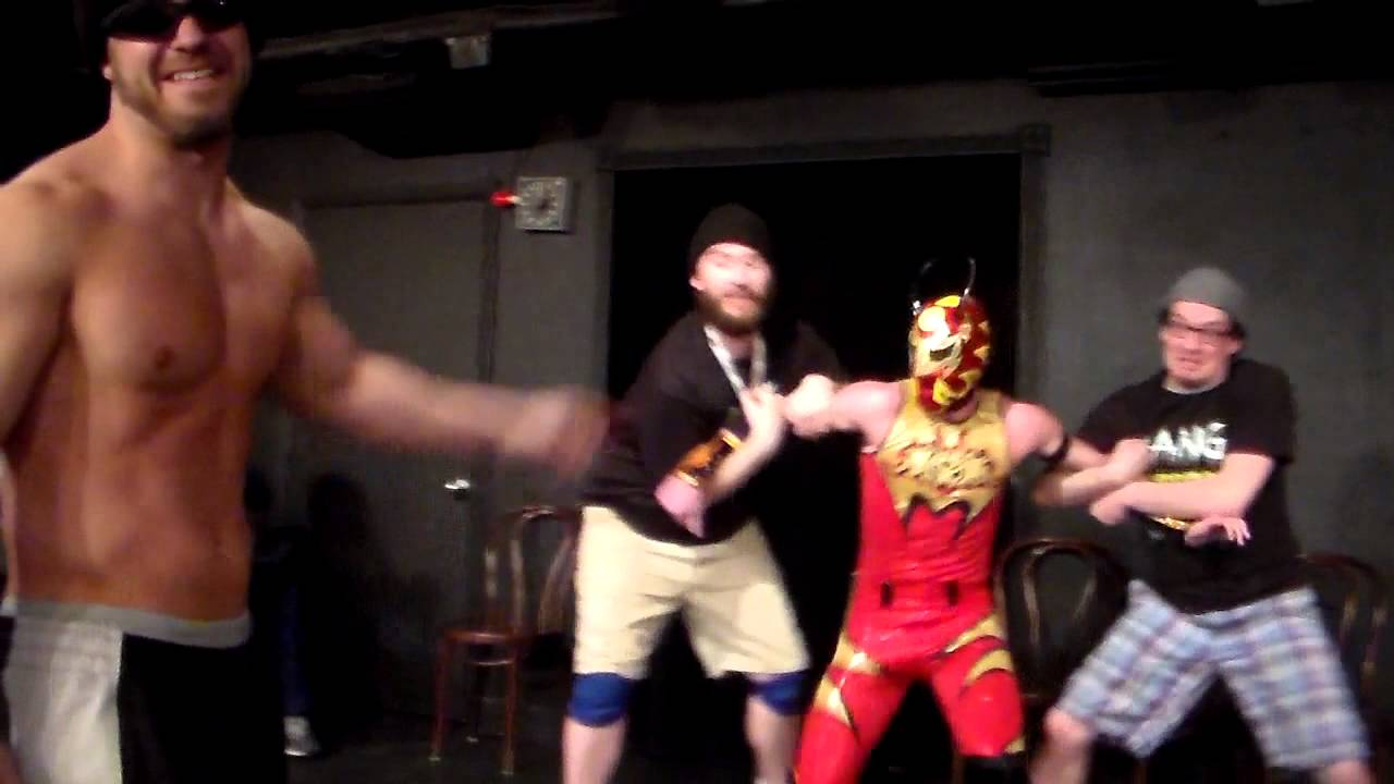 The Bang Bros introduce their brother Shooter UCBW CageMatch 2-27-14