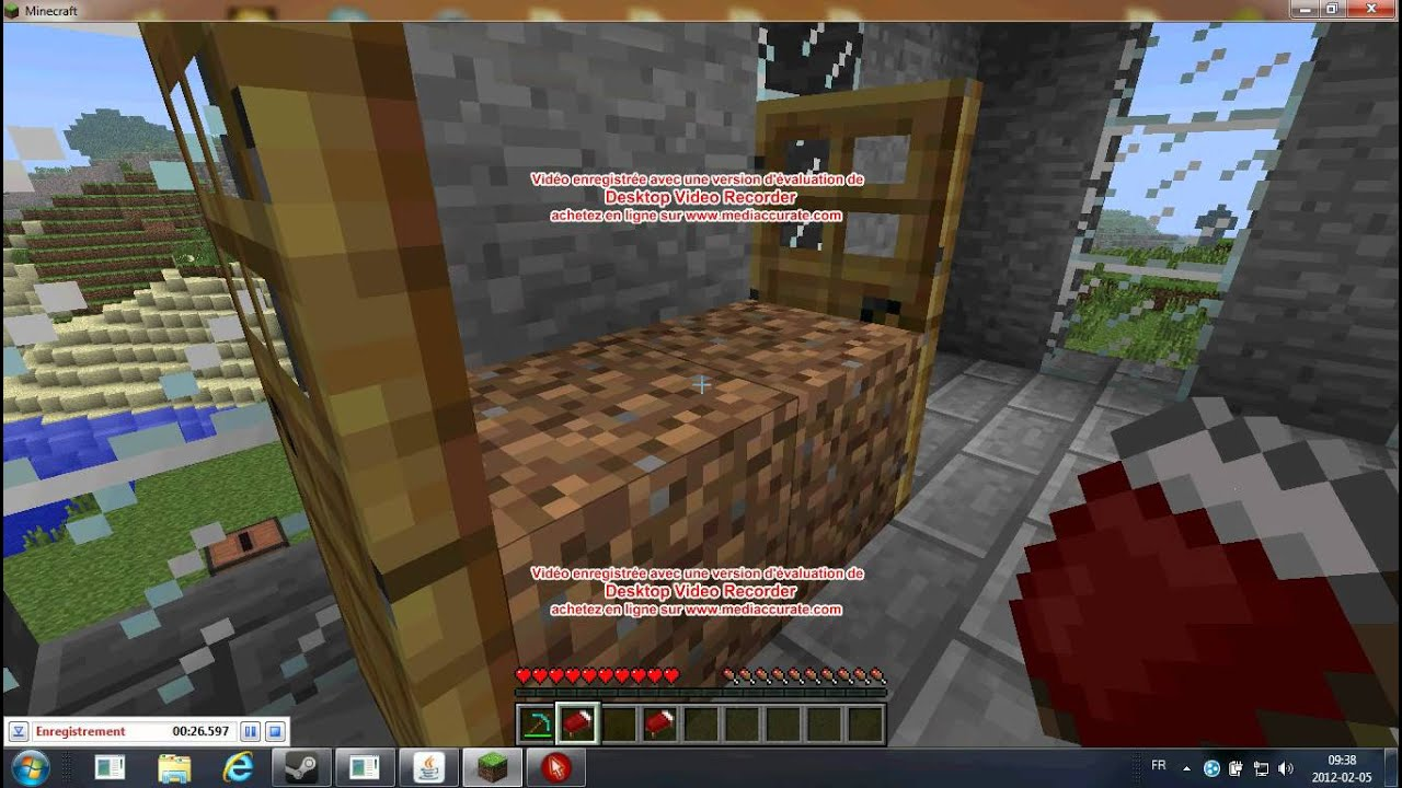 Tuto minecraft comment faire un lit superpos youtube - Faire un lit minecraft ...