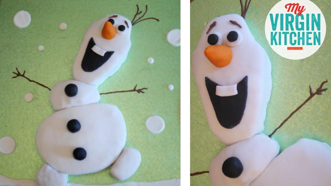 HOW TO MAKE A FROZEN CAKE - HOMEMADE OLAF CAKE RECIPE - YouTube
