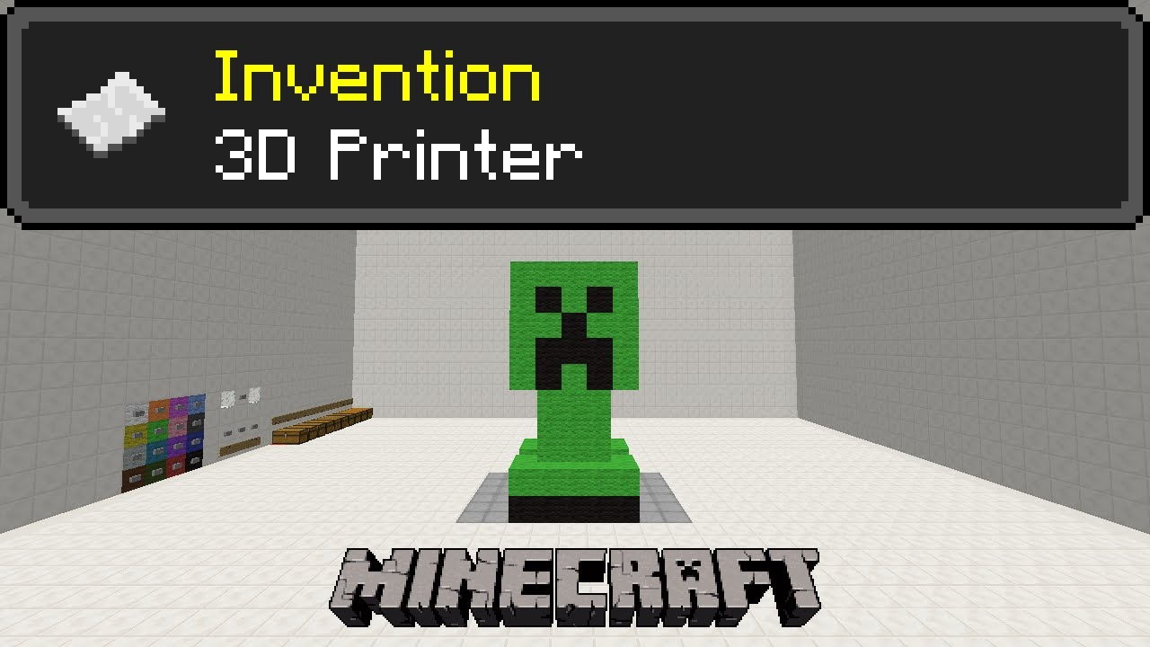 3d printer with 16 colors minecraft invention youtube for Who invented the 3d printer
