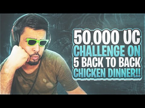 50,000 UC CHALLENGE BACK TO BACK CHICKEN DINNER IN  BOOTCAMP - FM RADIO GAMING