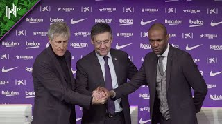 Former real betis head coach quique setien has been unveiled as the new barcelona coach, after club sacked ernesto valverde on monday. 61-year-old po...