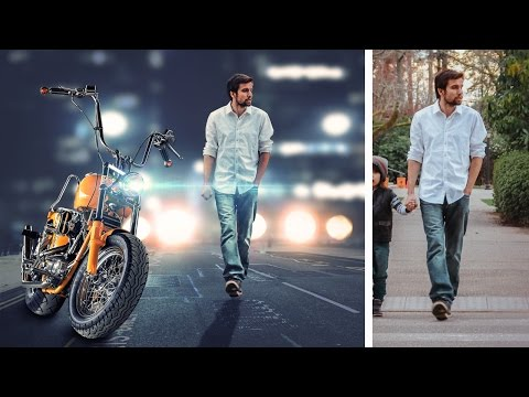 Simple photo manipulation and changing background  photoshop tutorial