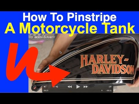 How To Pinstripe A Motorcycle Tank Learnautobodyandpaint