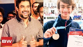 Maddy s Son Grabs a Bronze Proud Father-Son Moment Vedaant Madhavan